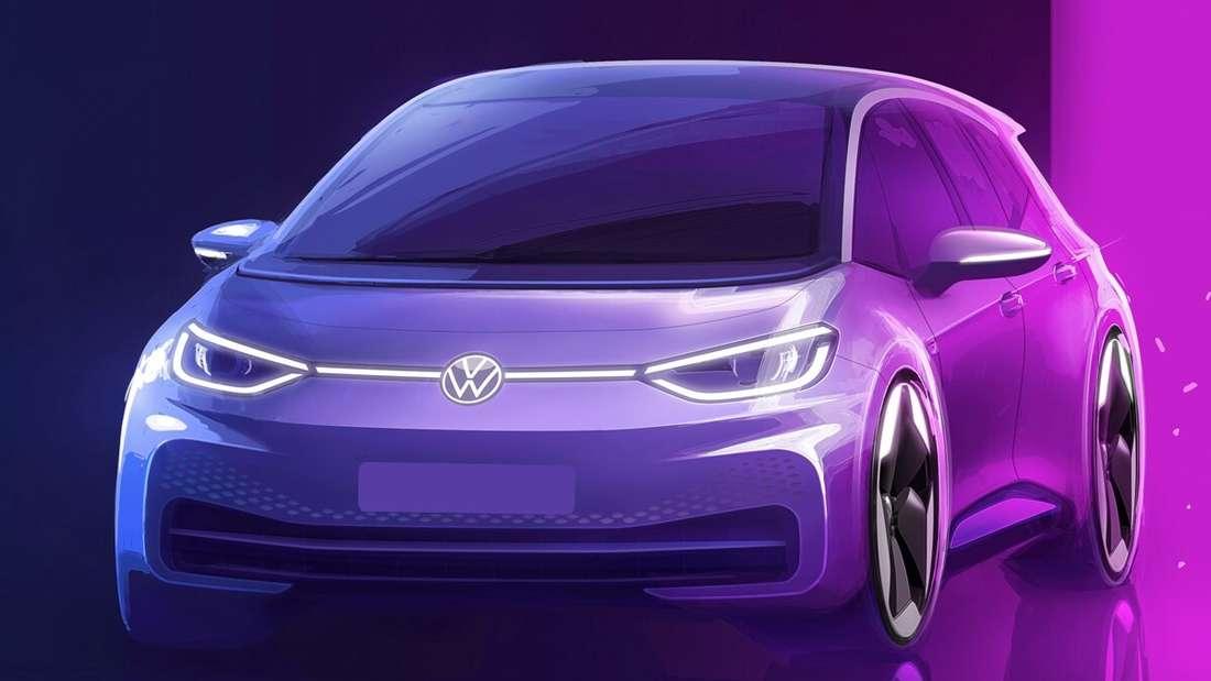 Volkswagens Designskizze zum VW ID.3