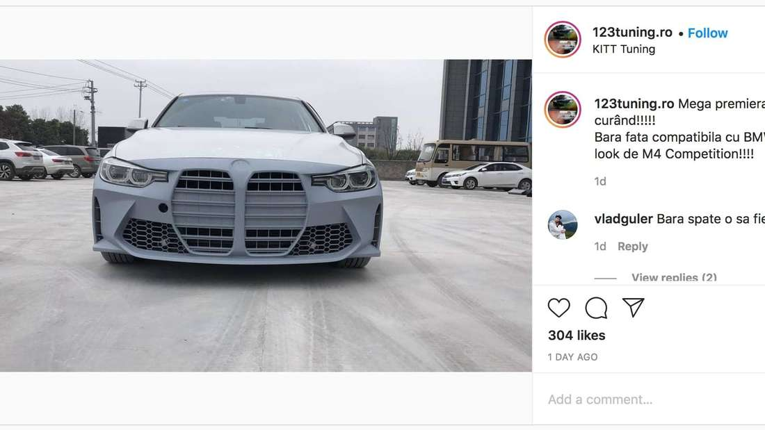 Ein Instagram-Post des Kanals 123tuning.ro