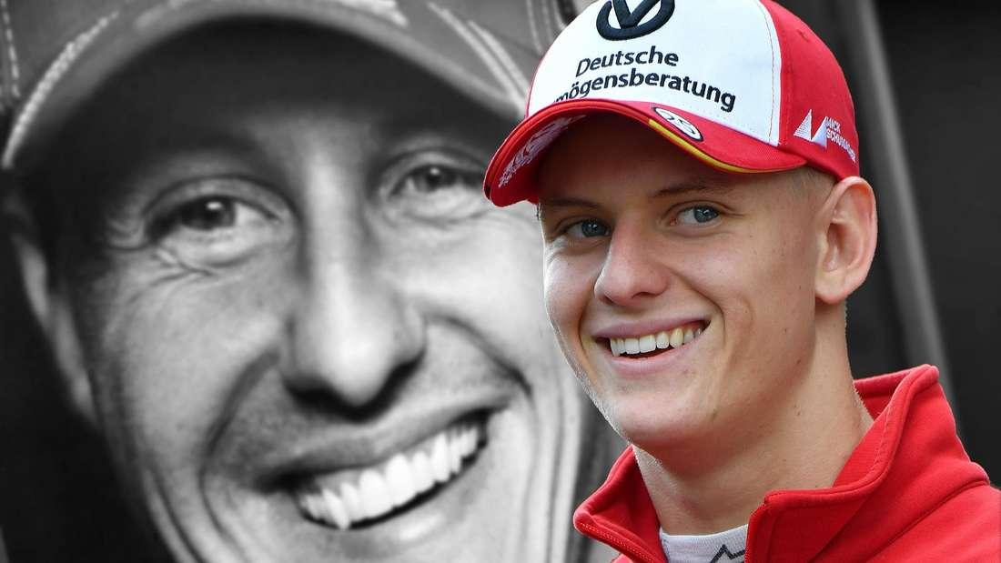 Michael Schumacher (links) und sein Sohn Mick Schumacher (rechts)