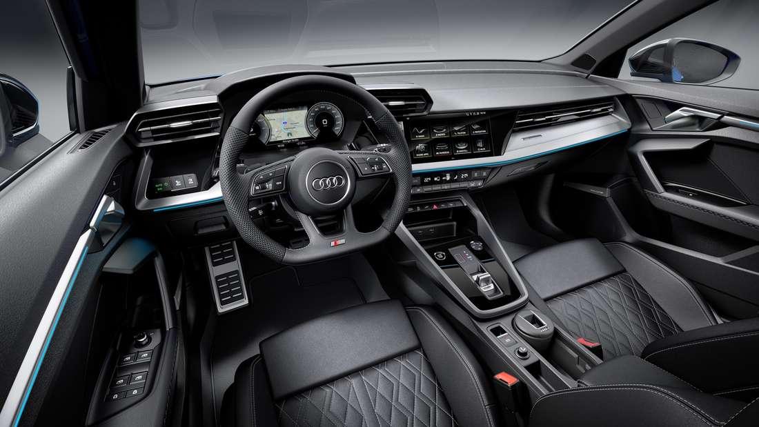 Blick in den Innenraum eines Audi A3 40 TFSIe
