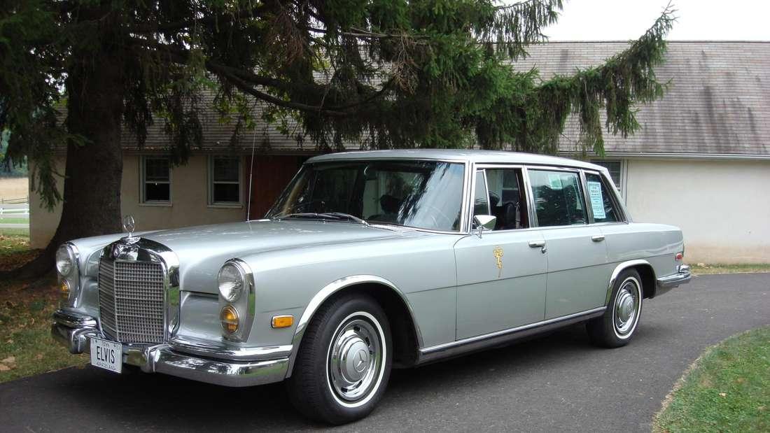 Der Mercedes-Benz 600, der einst dem Sänger Elvis Presley gehörte.