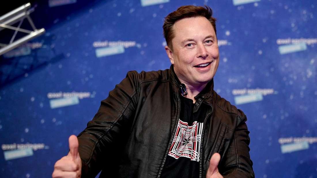 Elon Musk, Chef von Tesla und SpaceX, bei einer Preisverleihung in Berlin
