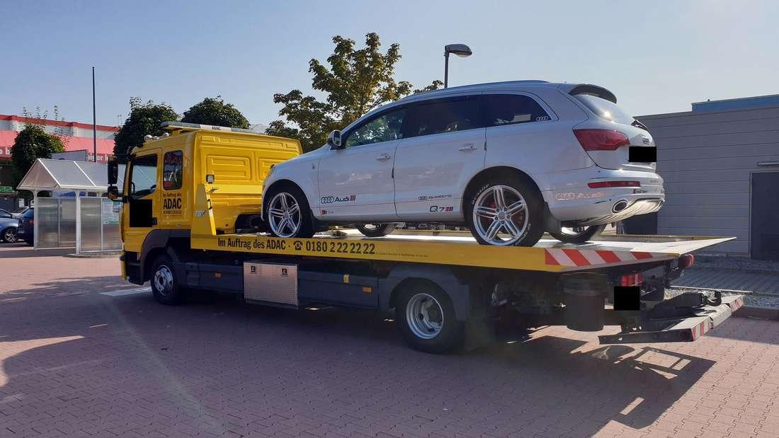 Das weiße Audi-Q7-SUV des 38-Jährigen aus Speyer