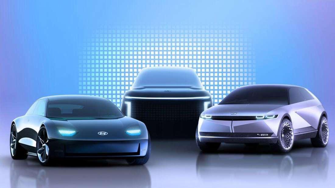 Entwürfe für zukünftige Elektroautos des südkoreanischen Autoherstellers Hyundai
