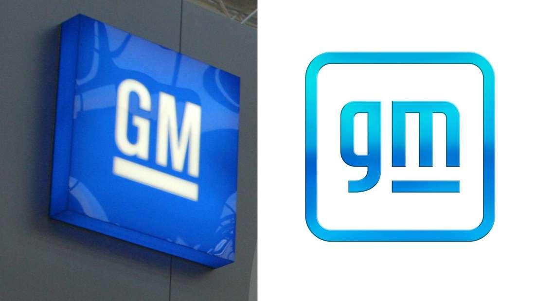 Das alte und das neue GM-Logo