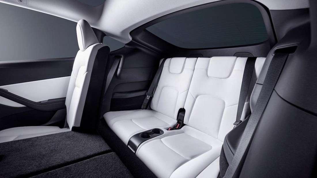 Die optionale dritte Sitzreihe im Mittelklasse-SUV Tesla Model Y