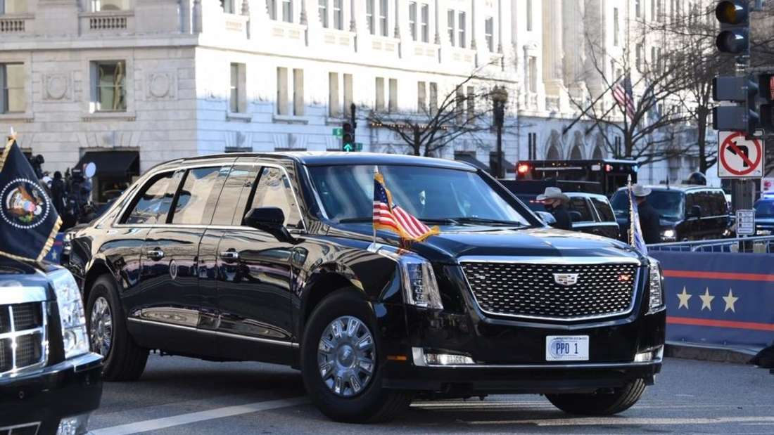 """Die Hochsicherheits-Limousine """"The Beast"""" des US-Präsidenten"""