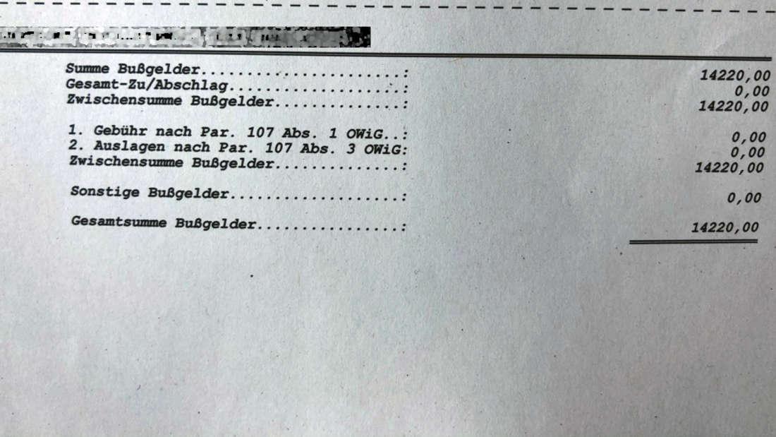 """""""14.220 EUR - Bochums bislang teuerster Parkverstoß!"""", berichtete die Polizei, die dieses Foto veröffentlichte."""