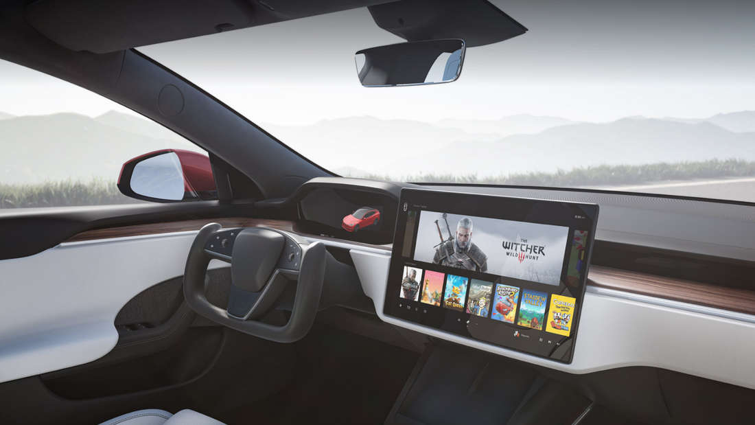 Blick in den Innenraum des Tesla Model S nach dem Facelift