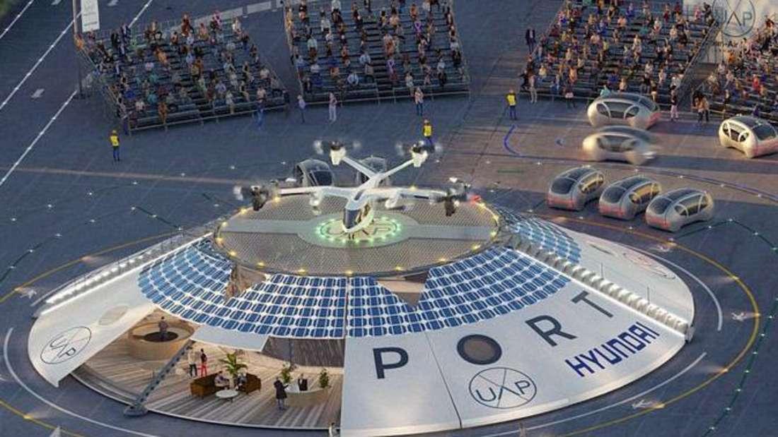 """Das Flughafengebäude des von Urban Air Port und Hyundai geplanten """"Air-One"""" in Coventry"""