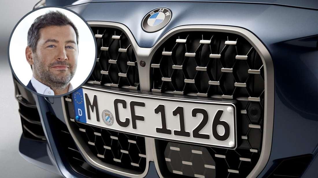 Ein Porträt von BMW-Designchef Domagoj Dukecvor einer BMW-4er-Niere