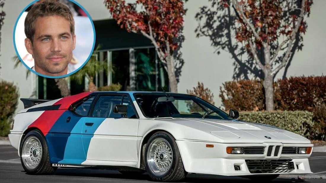 Ein BMW M1 und das Porträt von Paul Walker