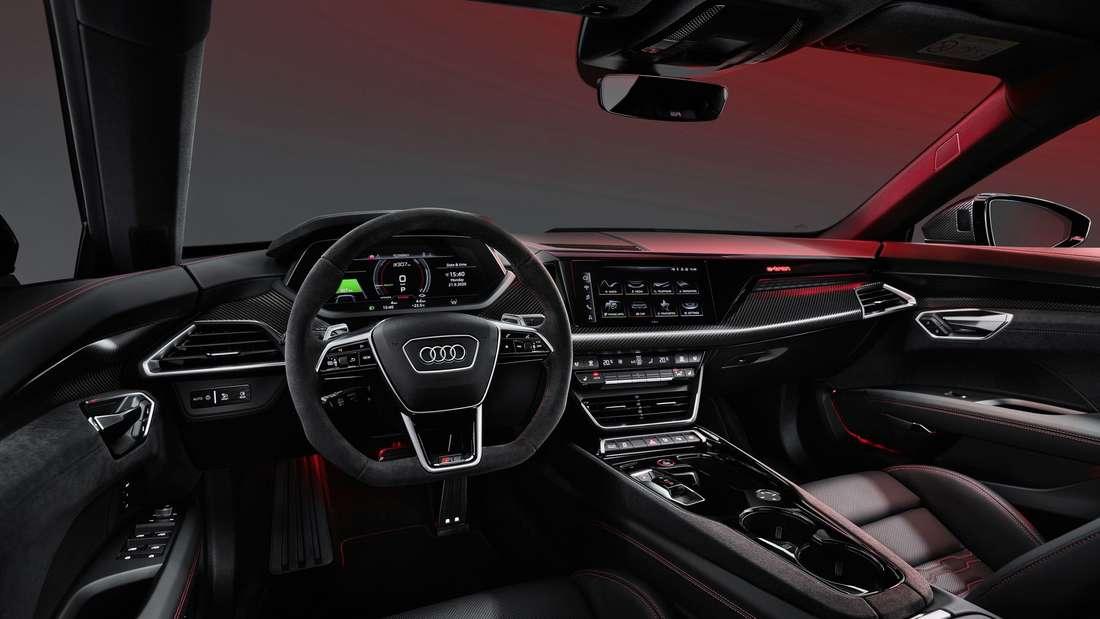 Blick in den Innenraum des Audi e-tron GT