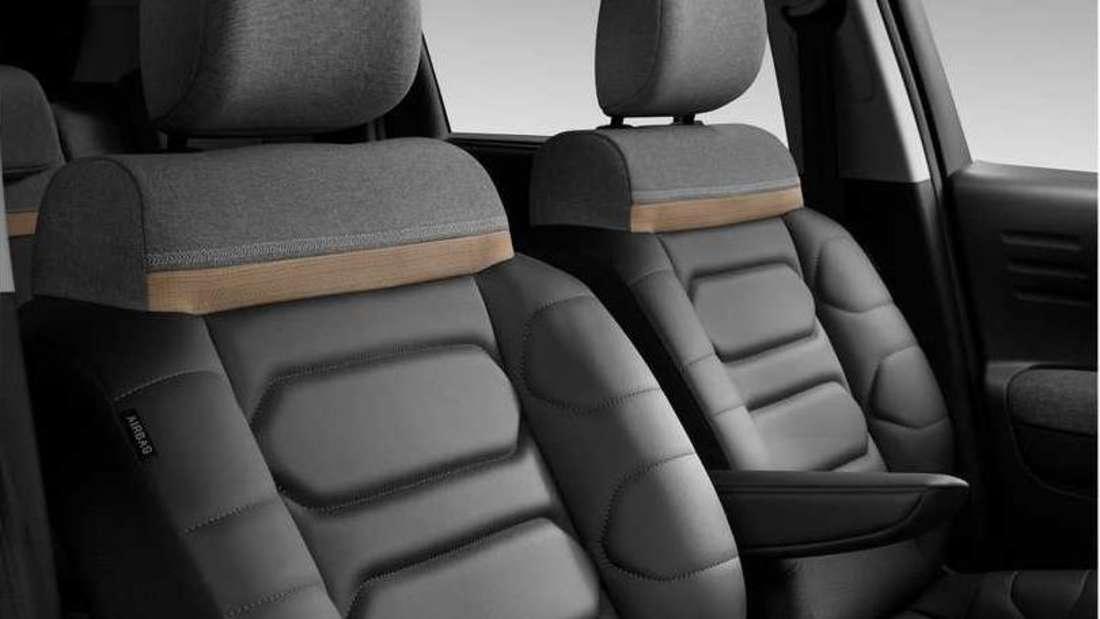 Die neuen Komfortsitze im Innenraum des Citroën C3 Aircross (2021)