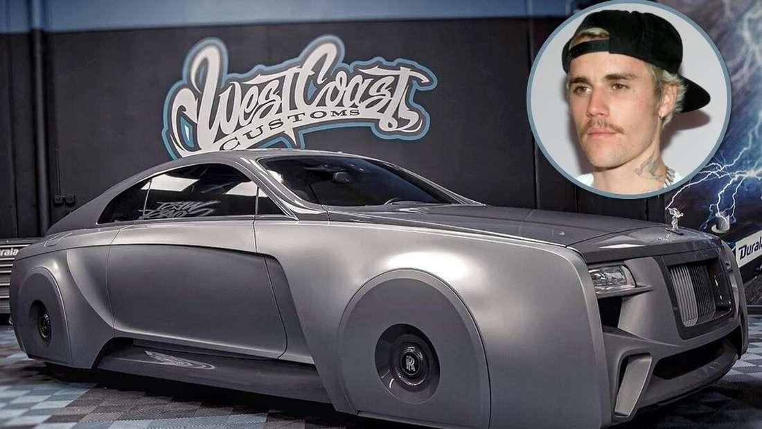 Der umgebaute Rolls-Royce Wraith und ein Porträt von Justin Bieber