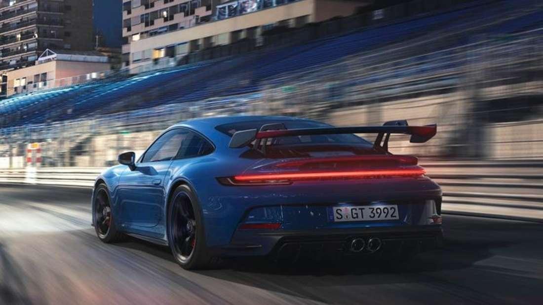 Fahraufnahme eines Porsche 911 GT3
