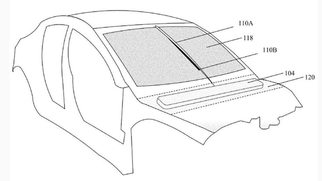 Skizze des revolutionären Scheibenwischers des neuen Tesla Roadster