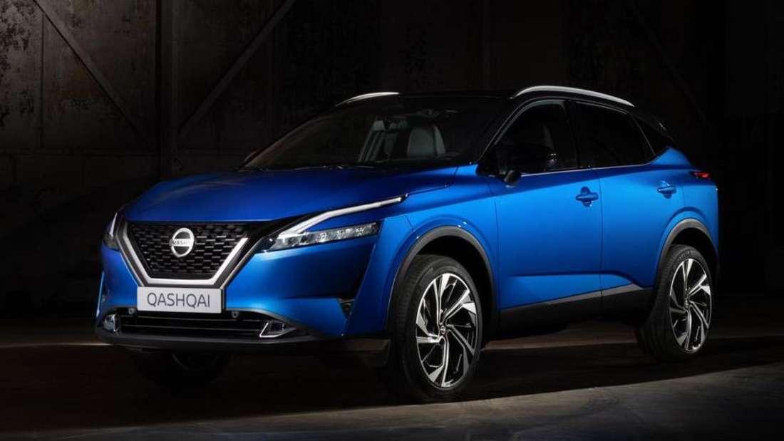 Ein blauer Nissan Qashqai