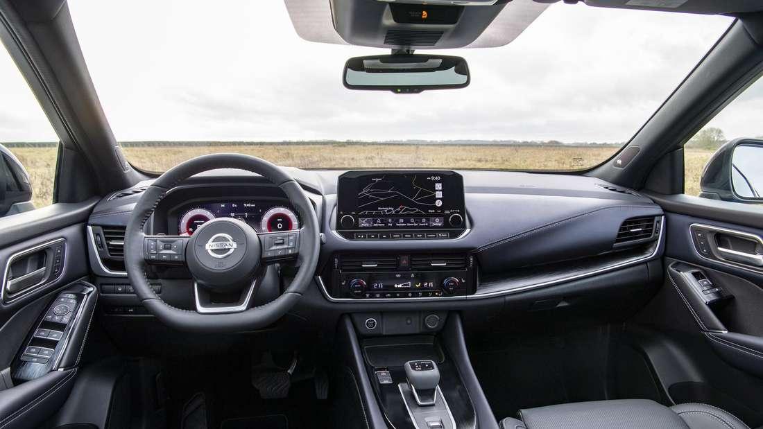 Blick in den Innenraum eines Nissan Qashqai