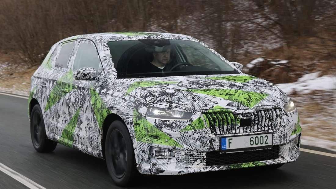 Der neue Škoda Fabia 1.0 TSI von vorne