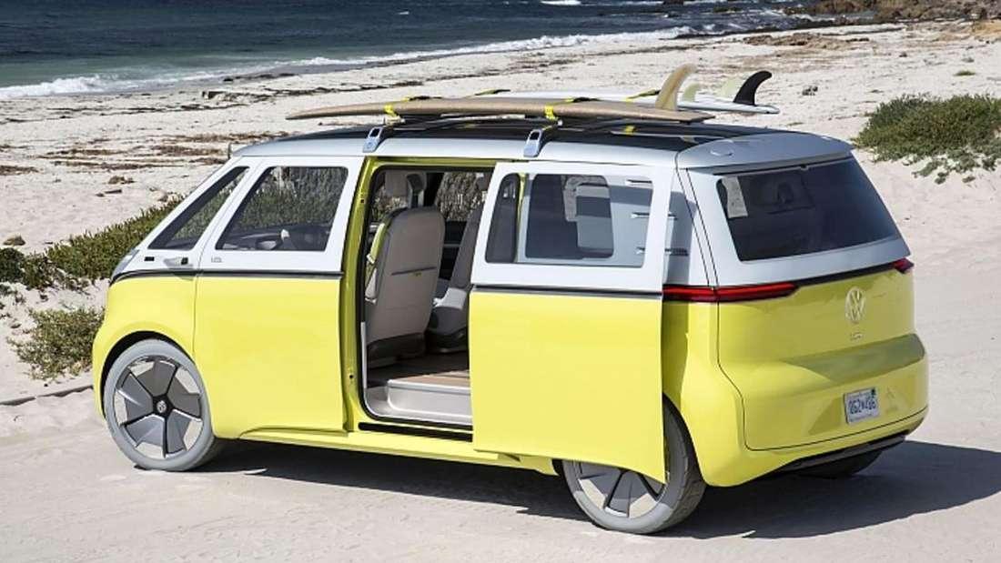 Eine Illustration des neuen Elektro-Vans VW ID.BUZZ von Volkswagen (Symbolbild)