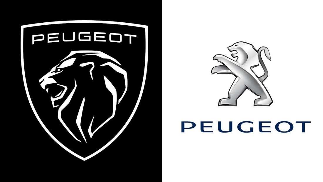 Das neue und das alte Logo von Peugeot