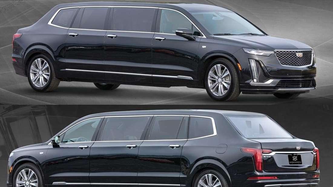 Eine Stretch-Limousine der S&S Coach Company auf Basis des Cadillac XT6