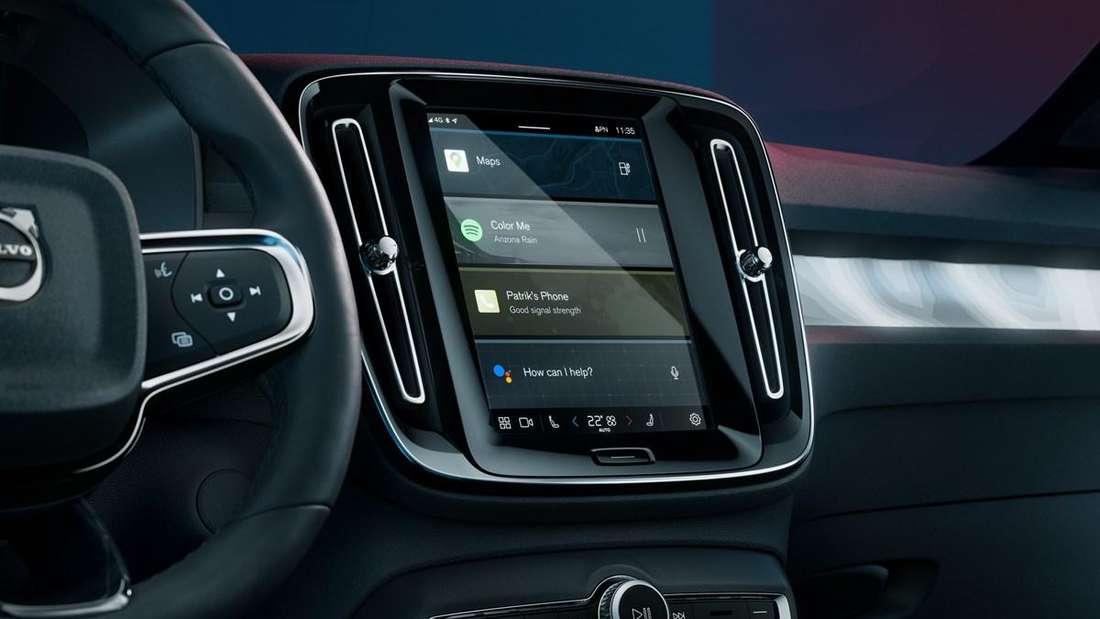 Das Center Display im neuen Volvo C40