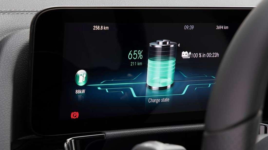 Das Fahrer-Display im Mercedes-Benz EQA 250