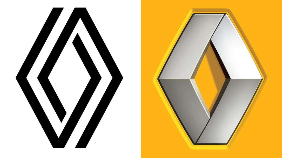 Das neue und das alte Renault-Logo