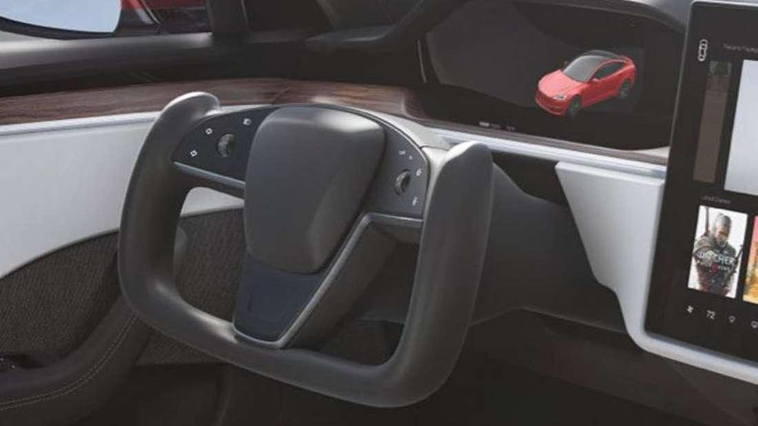 Das brandneue Yoke-Lenkrad von Tesla