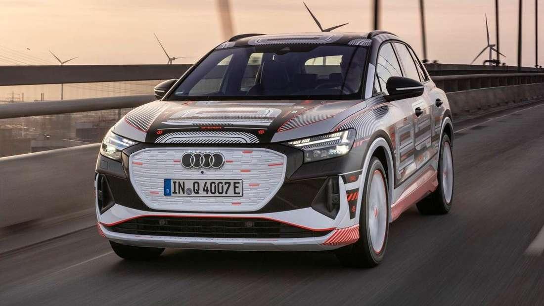 Der Audi Q4 e-tron von vorne