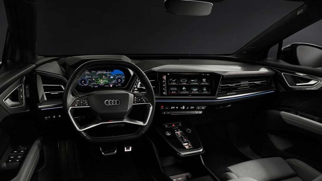Das Cockpit des Audi Q4 e-tron