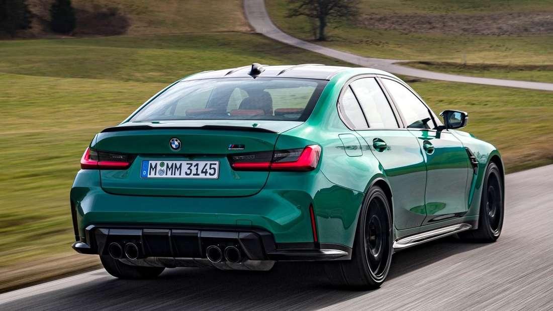 Fahraufnahme eines BMW M3 Competition