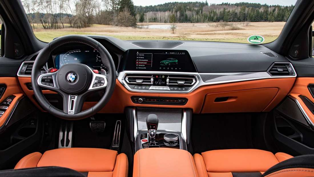 Blick in den Innenraum des BMW M3 Competition
