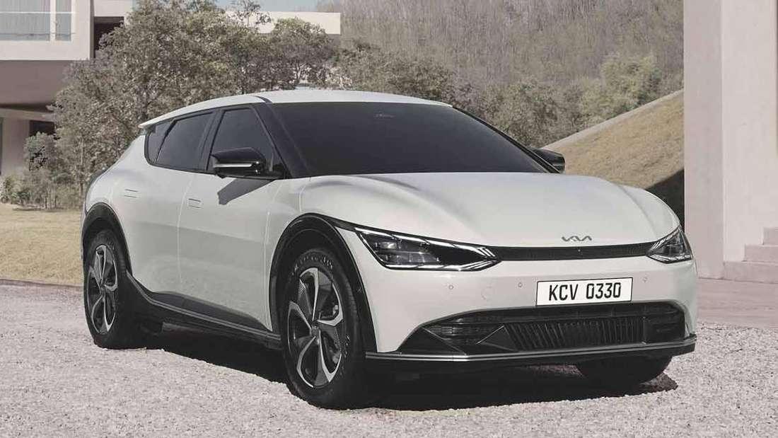 Der neue Kia EV6 von vorne
