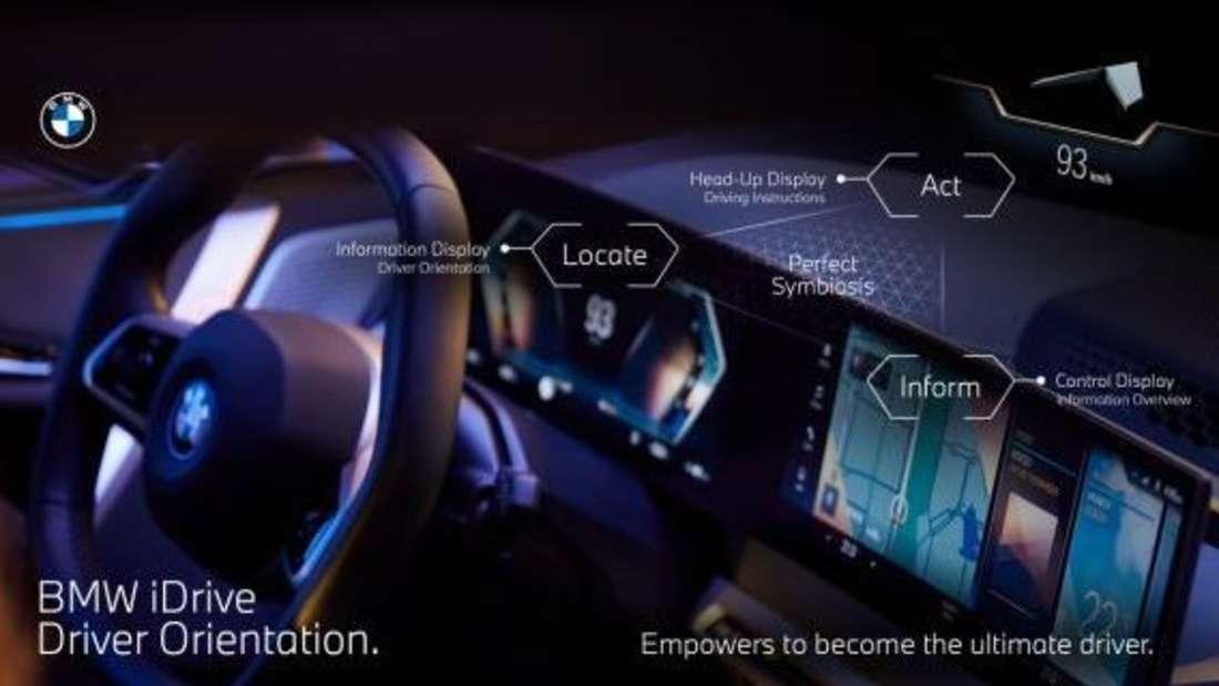 Das Zusammenspiel der drei Displays beim neuen BMW iDrive (OS 8)