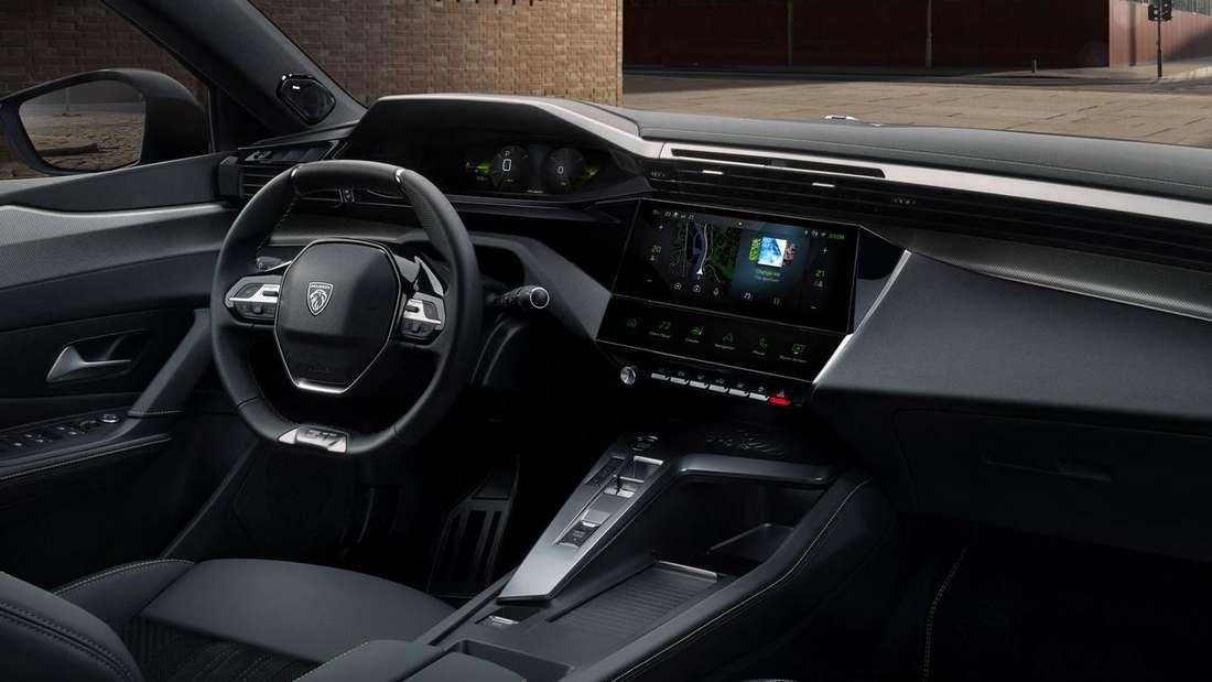 Blick in den Innenraum des Peugeot 308