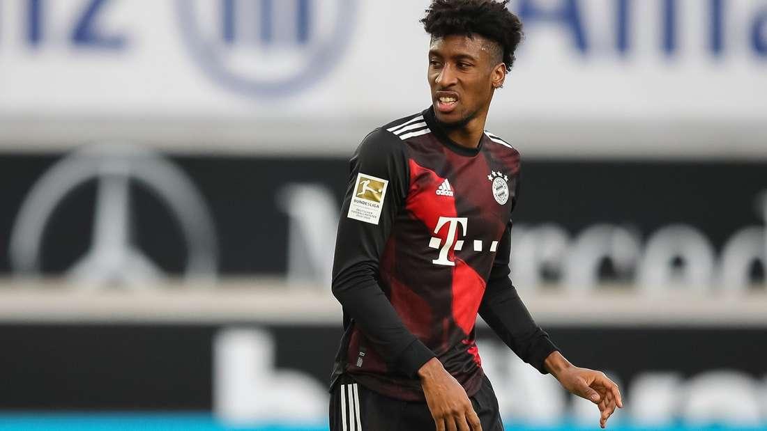 Fußball-Flügelstürmer Kingsley Coman vom FC Bayern München bei einem Bundesligaspiel in Stuttgart