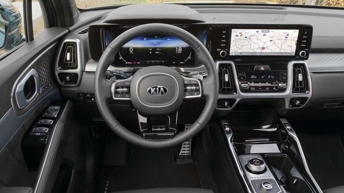 Das Cockpit des neuen Kia Sorento PHEV