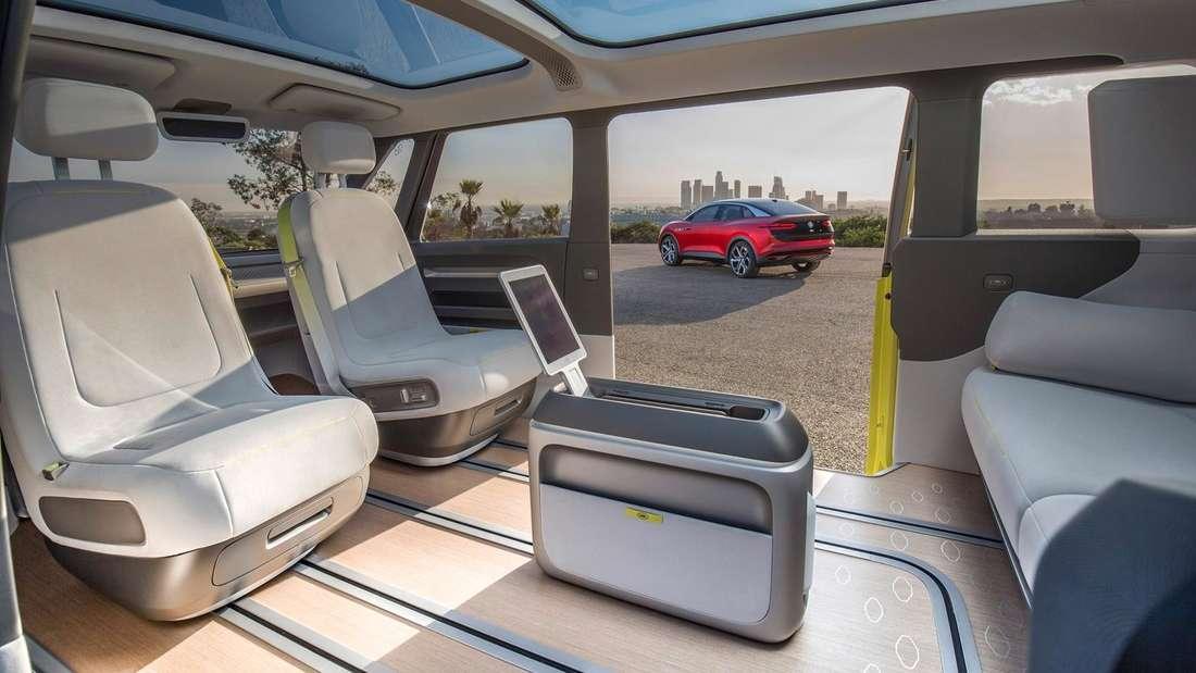 Blick in den Innenraum des VW ID.Buzz