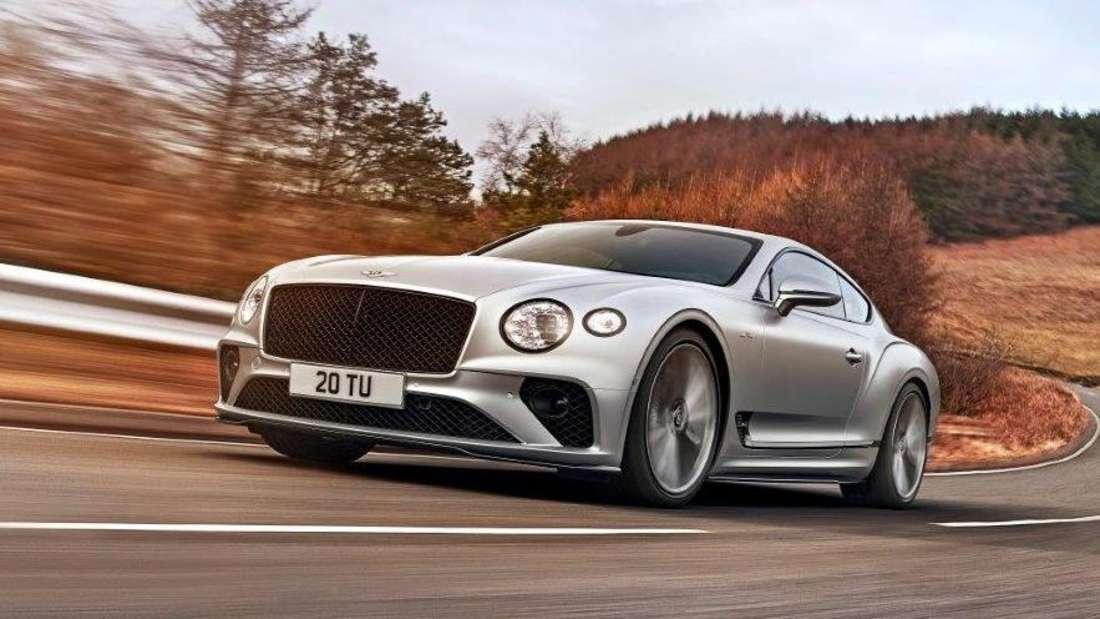 Fahraufnahme eines Bentley Continental GT Speed