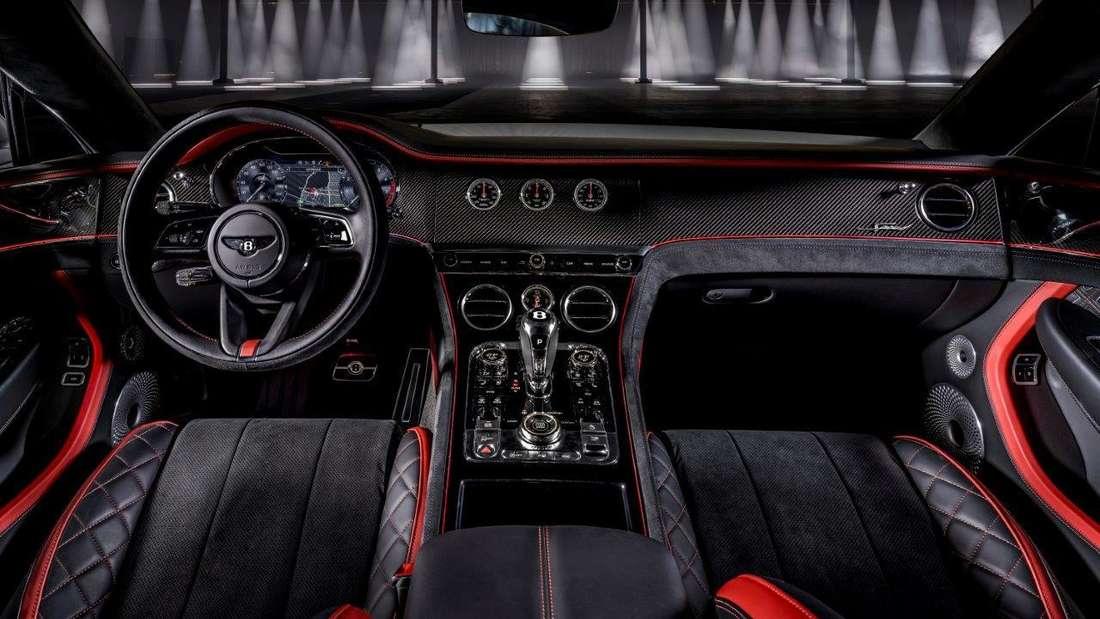 Blick in den Innenraum des Bentley Continental GT Speed