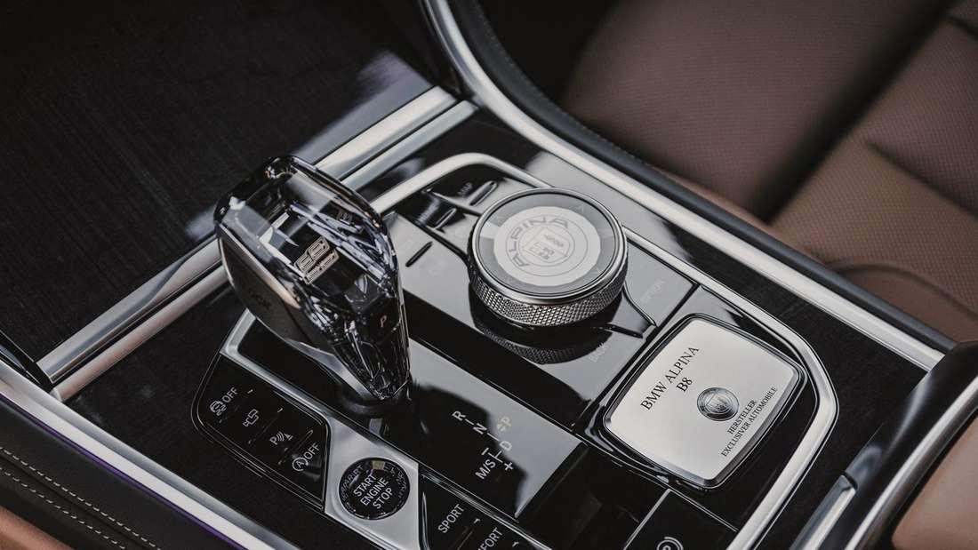 Die Mittelkonsole des BMW Alpina B8 Gran Coupé