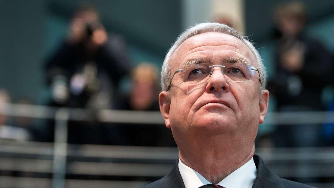 Martin Winterkorn, Ex-Vorstandsvorsitzender der Volkswagen AG, bei seiner Vernehmung im Abgas-Untersuchungsausschuss