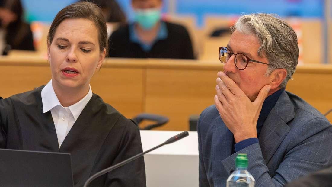 Rupert Stadler, Ex-Vorstandsvorsitzender der Audi AG, im Sitzungssaal des Münchner Landgerichts.