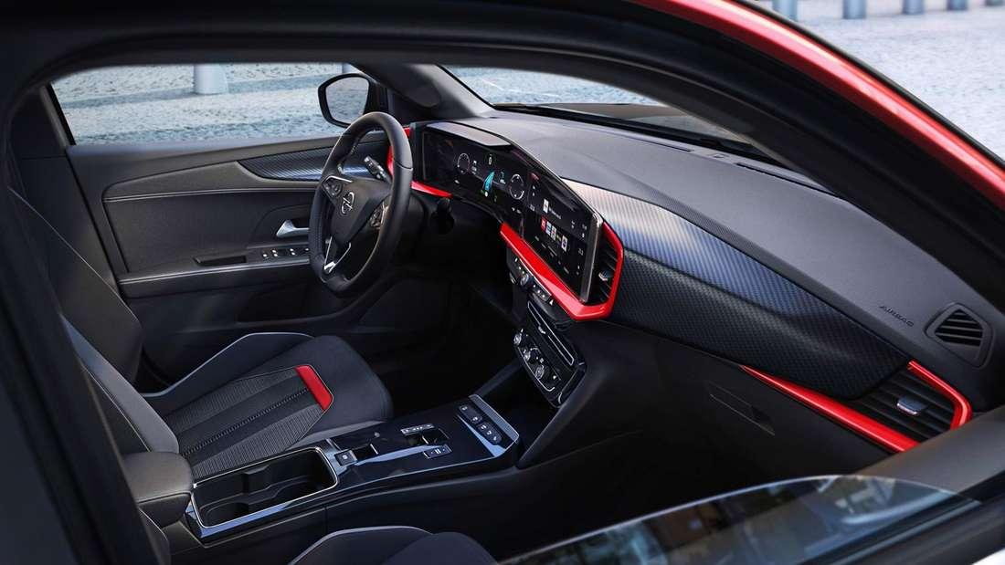 Blick in den Innenraum eines Opel Mokka