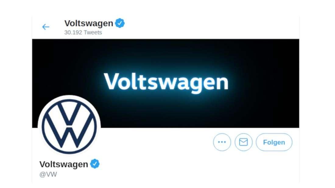 Ein Screenshot des Twitter-Headers von Volkswagen USA
