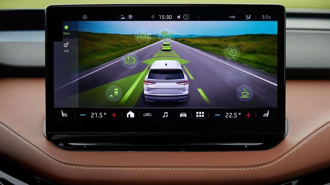 Der Touchscreen im Škoda Enyaq iV 80