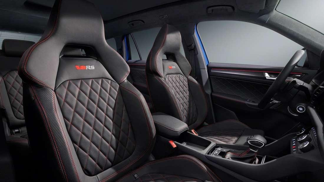 Fahrer- und Beifahrersitz im neuen Škoda Kodiaq RS